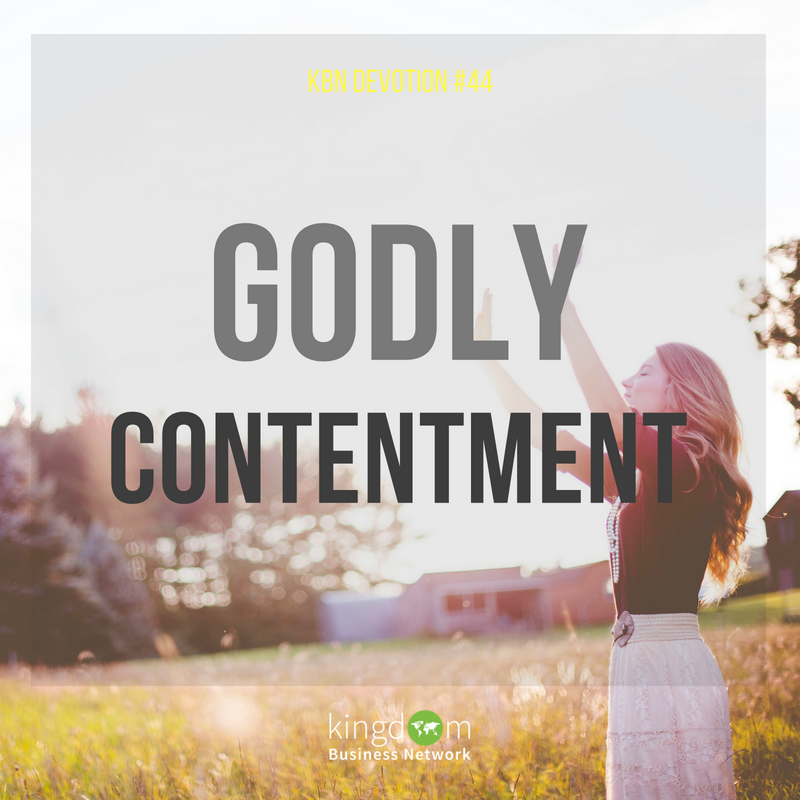Godly Contentment